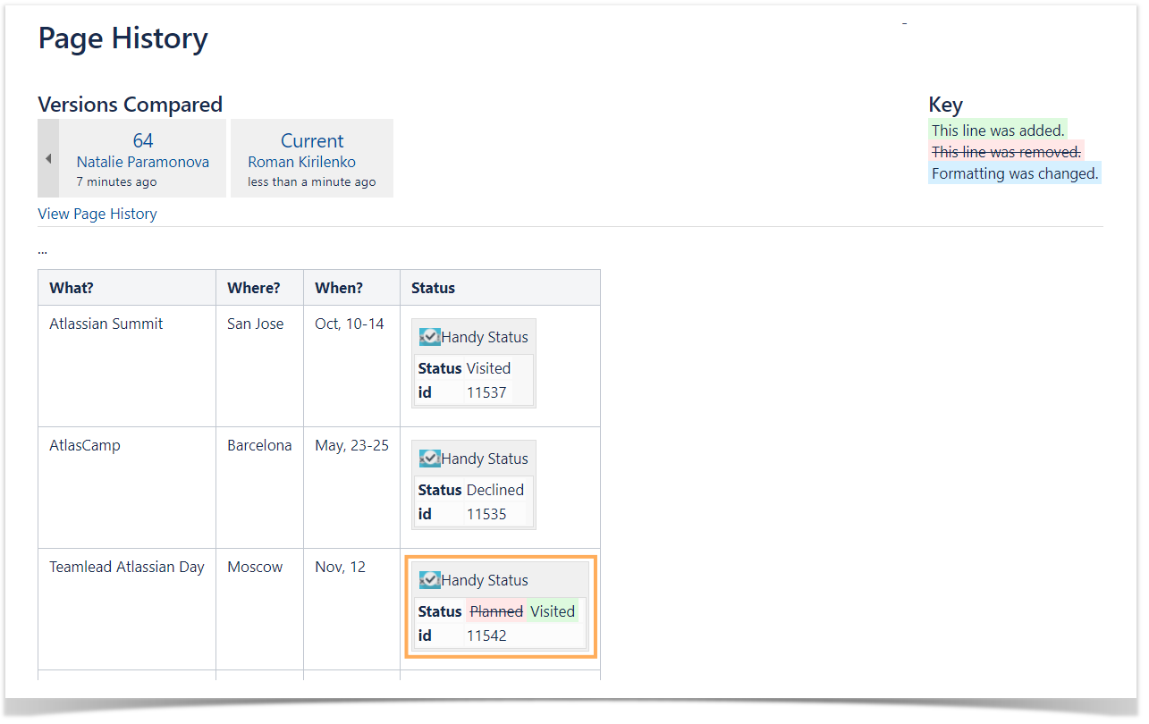 How to use Handy Status macro - StiltSoft Docs - Handy Macros for