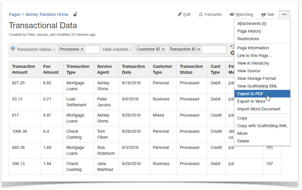 Exporting Table Data - StiltSoft Docs - Table Filter and Charts for