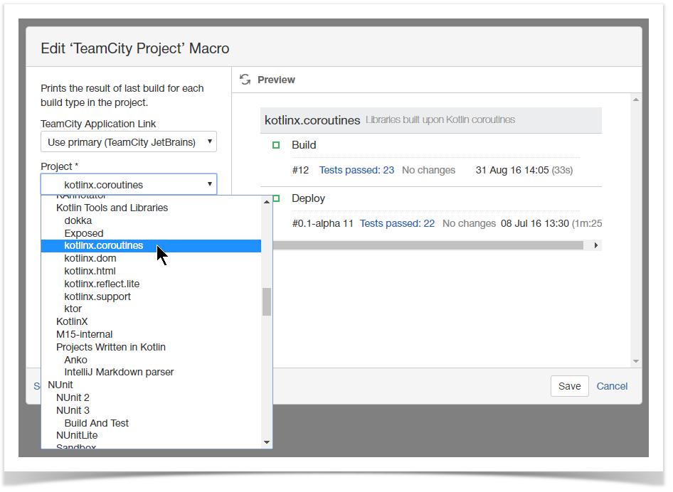 Version 1 5 0 - TeamCity Integration for Confluence - StiltSoft Docs