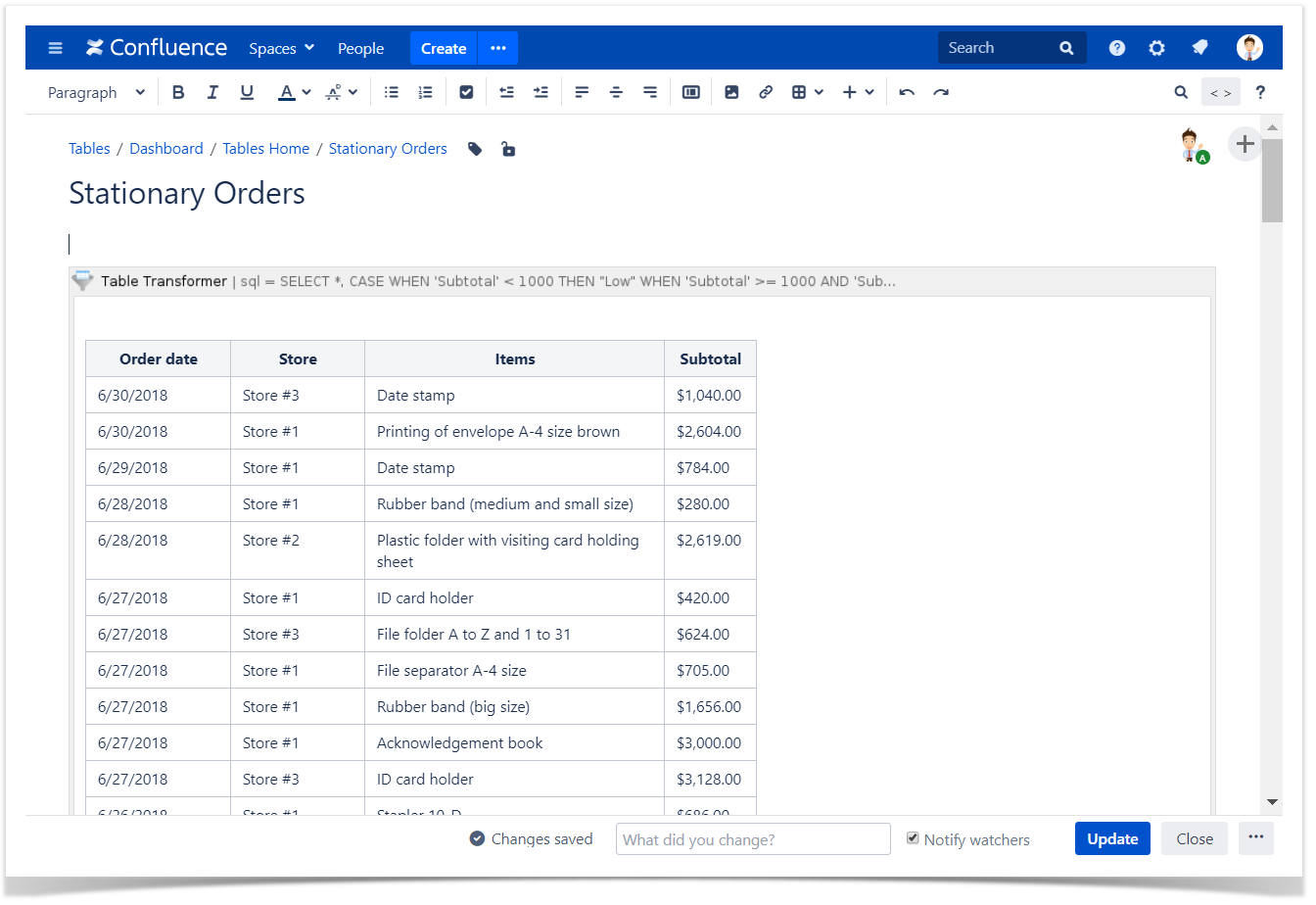 Custom Transformation - use cases with advanced SQL queries