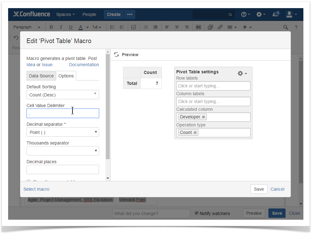 How to use Pivot table macro - StiltSoft Docs - Table Filter