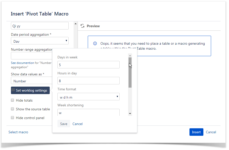 How to use Pivot table macro - StiltSoft Docs - Table Filter