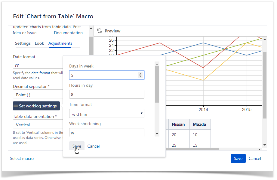 How To Use Chart From Table Macro Table Filter And Charts For