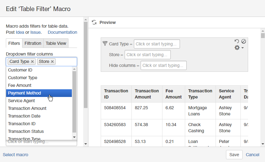 Merveilleux Managing Dropdown Filters   Table Filter And Charts For Confluence    StiltSoft Docs
