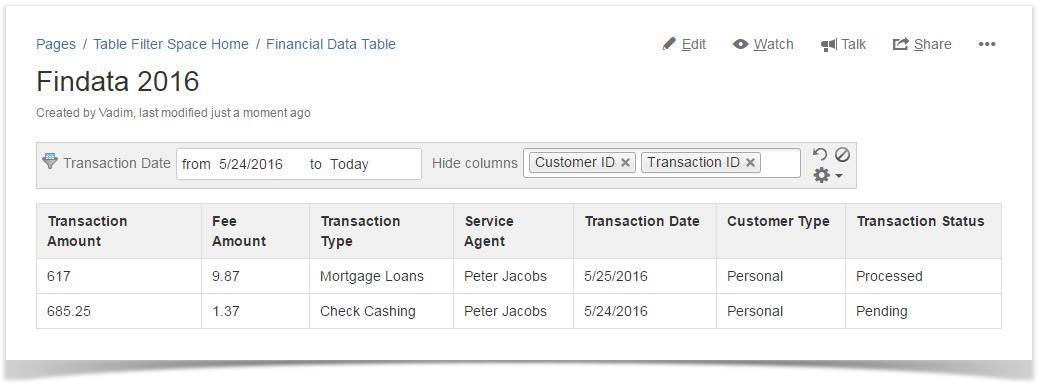 Managing Date Range Filters - StiltSoft Docs - Table Filter