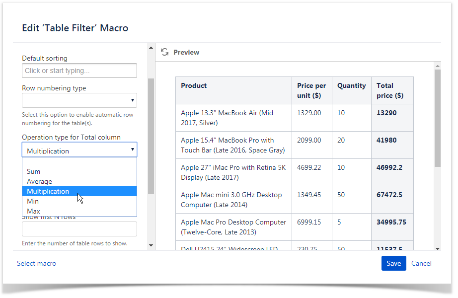 Managing Look of the Table and Filtration Pane - StiltSoft